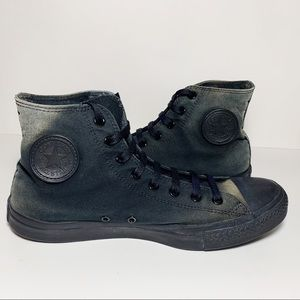 Converse Distressed Faded Black Sneakers Hi Top